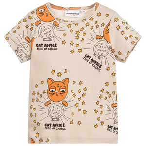 Mini Rodini Cat Advice Short Sleeve Tee 1862010197