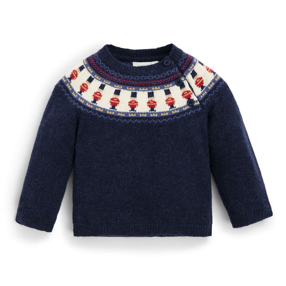 Jojo Maman Bebe E1535 Navy London Guard Fair Isle Sweater