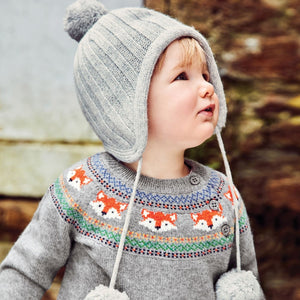 Jojo Maman Bebe D8572 Marl Gray Fox Fair Isle Sweater