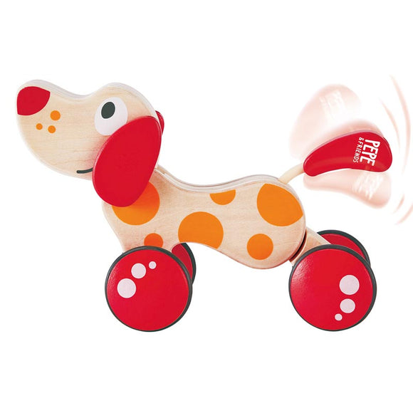 Hape E0347 Walk-A-Long Puppy Wooden Pull Toy
