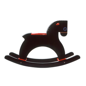 Playsam Black Rocking Horse