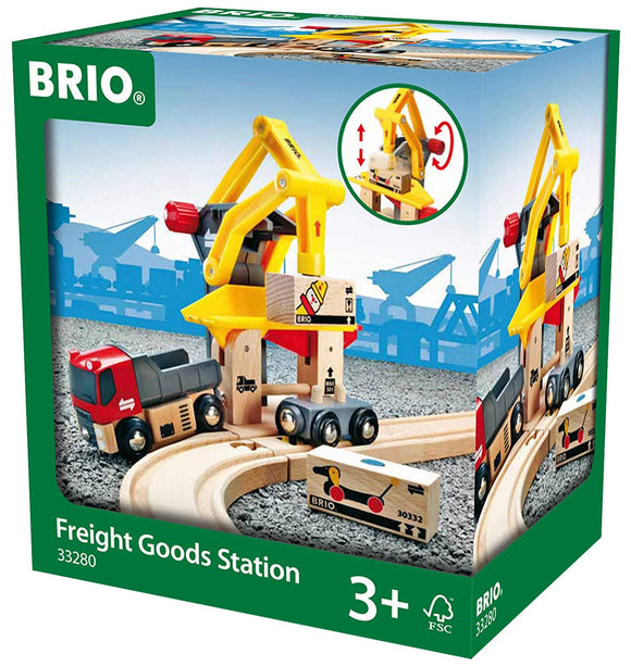 BRIO 33280 Freight Goods Station | Toy Train Accessories for Kids Age 3 and Up