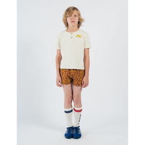 BOBO CHOSES Leopard Buttoned T-Shirt 12001023