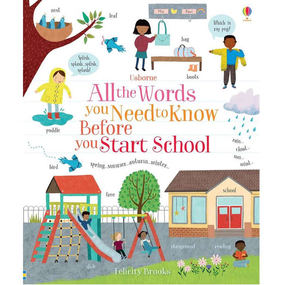 Usborne All the Words You Need to Know Before You Start School 3Y+ 978-0-7945-4656-4