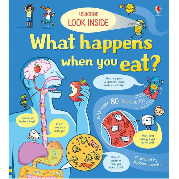 Usborne Look Inside What Happens When You Eat (5Yr&Up, Board book) 978-0-7945-4878-0