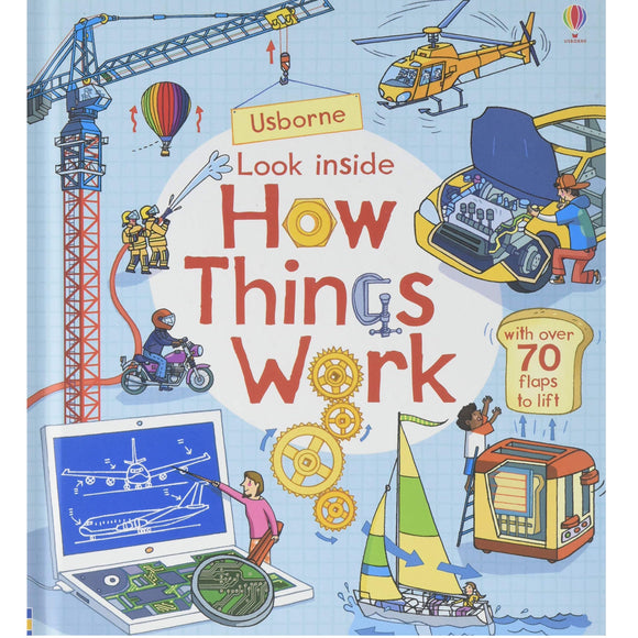 Usborne Look Inside How Things Work (5Yr&Up, Board book)  978-0-7945-4287-0