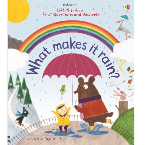 Usborne Lift-the-Flap First Questions and Answers: What makes it rain? 3Yr+