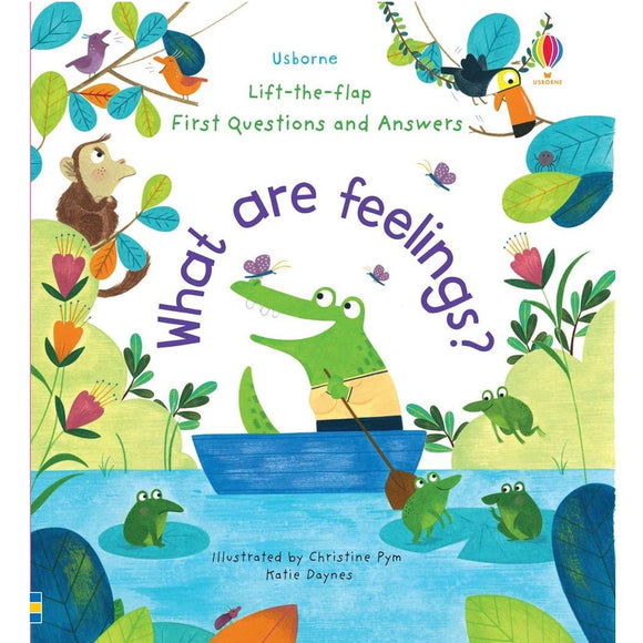 Usborne Lift-the-Flap First Questions and Answers: What Are Feelings? 3Yr+