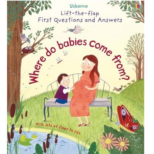 Usborne Lift-the-Flap First Questions and Answers: Where Do Babies Come From? 3Yr+