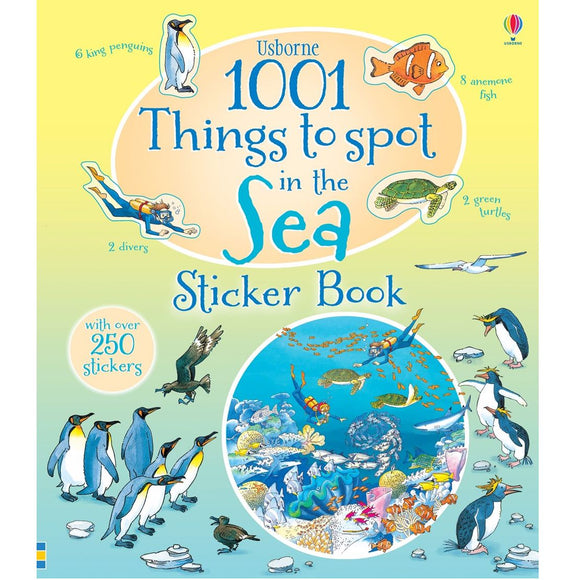 USBORNE 1001 Things To Spot Sea Sticker Book (3Yr&Up) 978-0-7945-3495-0