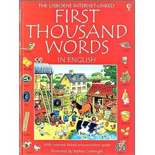USBORNE First Thousand Words in English (3Y&Up) 978-0-7945-3394-6