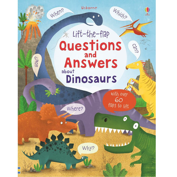 USBORNE Lift-the-Flap Questions and Answers About Dinosaurs (4Y&Up) 978-0-7945-3447-9