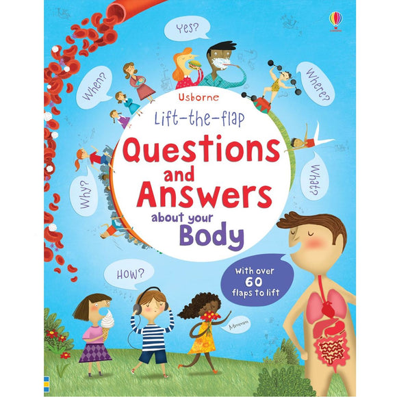 USBORNE Lift-the-Flap Questions and Answers About Your Body 4Y+