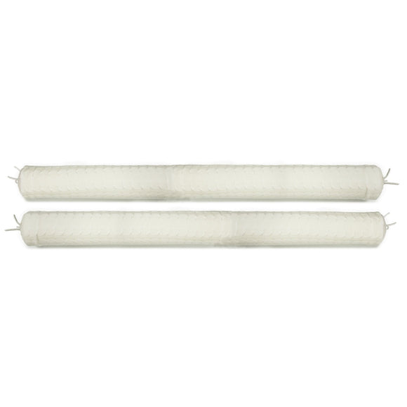 Rian Tricot Pillow CRIB SIDE PROTECTOR (Pair) Off White