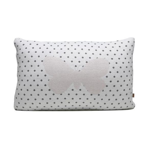Rian Tricot Cushion BUTTERFLY in Soft Pink