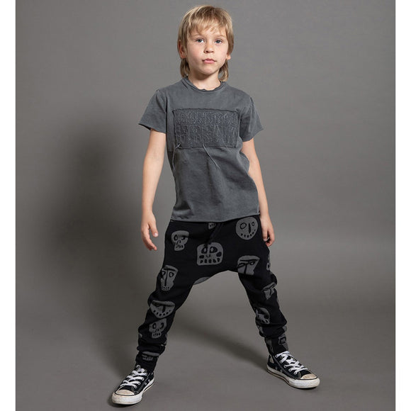 Nununu NU2568 Rowdy Masks BAGGY PANTS in Black