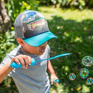 Sunday Afternoons Kids Artist Series Trucker Cap in Rainbow Trout