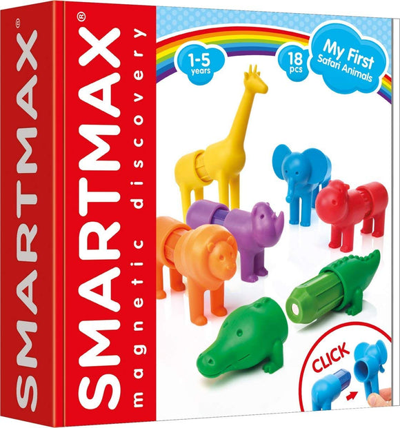 SMART SmartMax My First Safari Animals STEM Magnetic Discovery Building Set