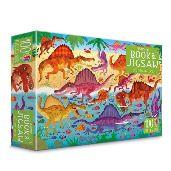 USBORNE Book & Jigsaw Puzzle - Dinosaurs (6Y&Up)