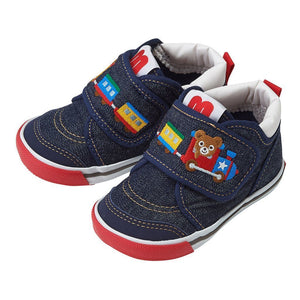 xMiki House Navy Bear Train Shoes in Navy