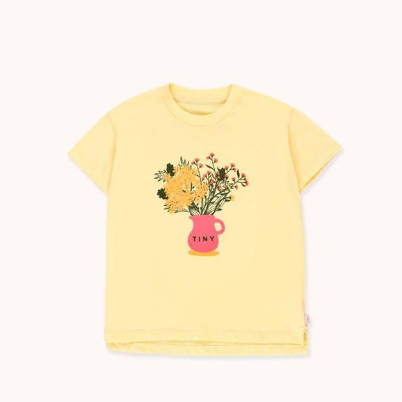 "TINYCOTTONS ""TINY FLOWERS"" TEE in lemonade/yellow 037"