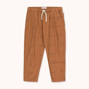 "TINYCOTTONS ""TINY"" PLEATED PANT in cinnamon/light navy 176"