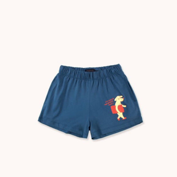 "TINYCOTTONS ""DFN TIME"" SHORT in summer navy/lemonade 062"