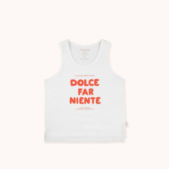 "TINYCOTTONS ""DOLCE FAR NIENTE"" TANK TOP in off-white/red 055"
