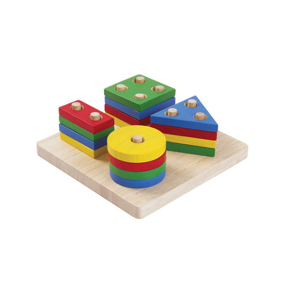 Plan Toys 2403 Geometric Sorting Board 2Y+