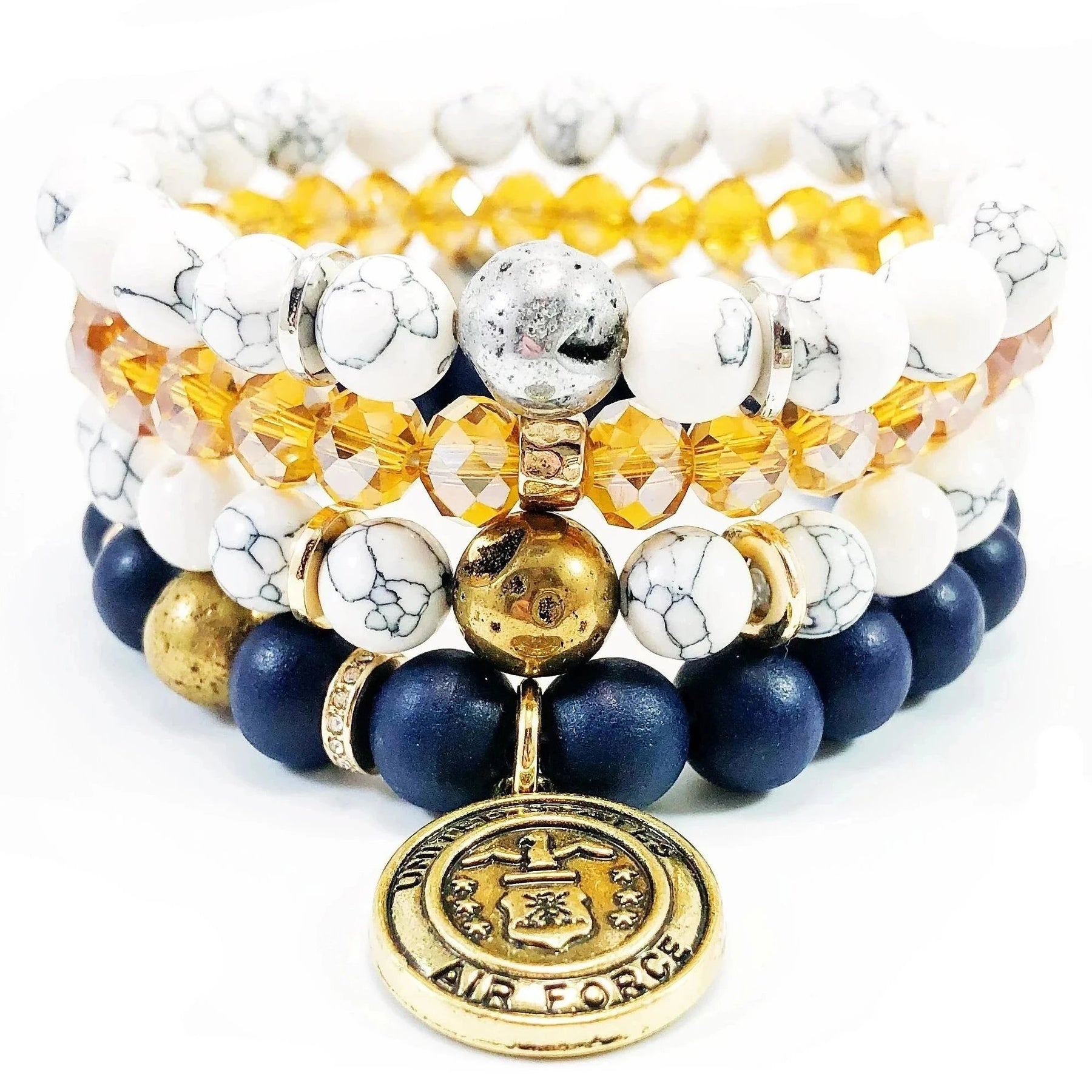 College Wax Cord Bracelet Penn State Inspired Stack Friendship Bracelet String Bracelet Bracelets White/&Blue Stack