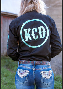 KCD Rodeo Shirt - Black/Turquoise