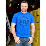 KCD Mens T-Shirt - Nicky Logo - Blue