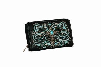 Black/Turquoise Leather Wallet - Cross
