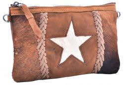Cowhide Leather Clutch - Star