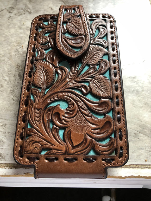 Leather Tooled Phone Case