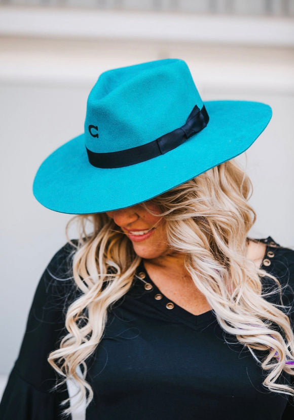 Charlie 1 Horse Hat - Turquoise