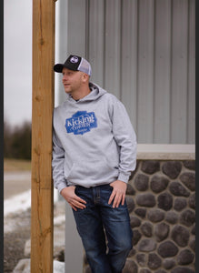 KCD Mens Hoodie - Buckle - Grey/Blue