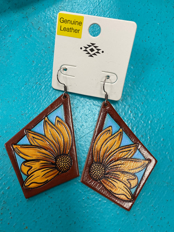 KCD Leather Earrings