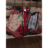 Christmas Cowboy Boot Stockings