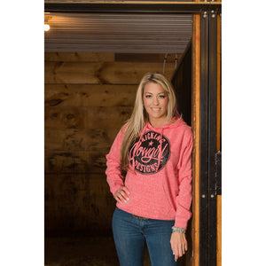 KCD Womens Hoodie - Sparkle Philly - Heather Red/black Sparkle
