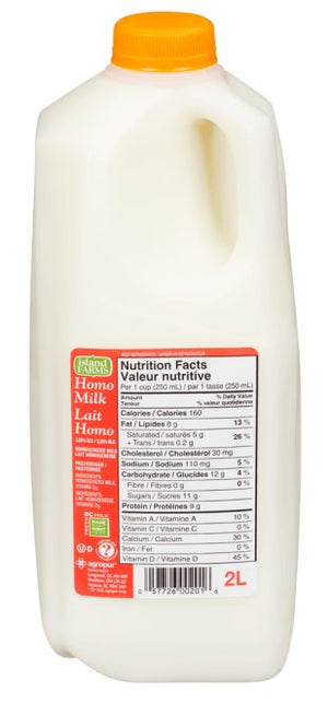 Milk Homogenized 2 lt