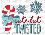 Christmas 417 - Cute But Twisted Candy Cane - Sublimation Transfer Set/Ready To Press Sublimation Transfer