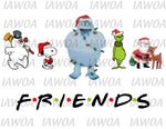 Christmas 438 - FRIENDS - Christmas Movie Friends Style - Sublimation Transfer Set/Ready To Press Sublimation Transfer