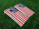 America 18 American Flag Eagle Military Cornhole Wrap Decal Sticker SET OF 2 PRINTS
