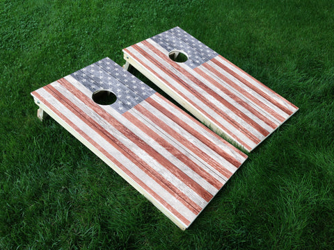 America 17 American Flag Eagle Military Cornhole Wrap Decal Sticker SET OF 2 PRINTS