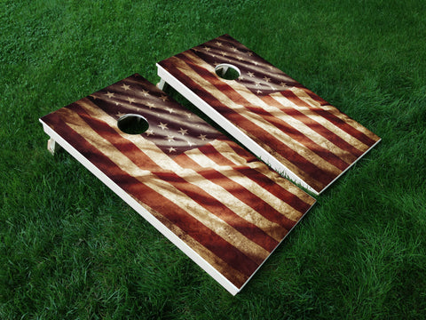 America 13 American Flag Eagle Military Cornhole Wrap Decal Sticker SET OF 2 PRINTS