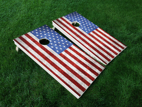 America 11 American Flag Eagle Military Cornhole Wrap Decal Sticker SET OF 2 PRINTS