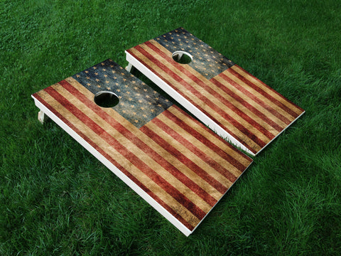 America 09 American Flag Eagle Military Cornhole Wrap Decal Sticker SET OF 2 PRINTS