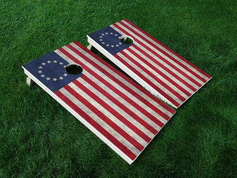 America 15 American Flag Eagle Military Cornhole Wrap Decal Sticker SET OF 2 PRINTS