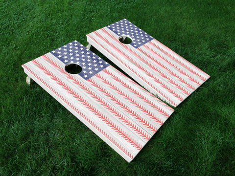 America 10 American Flag Eagle Military Cornhole Wrap Decal Sticker SET OF 2 PRINTS
